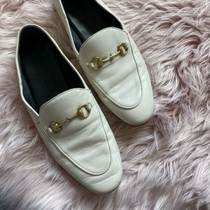 Gucci Shoes - Gucci Brixton White Convertible Loafers